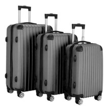Luggage 3 Piece Set Suitcase Spinner Hardshell Lightweight TSA Lock Dark... - $113.60