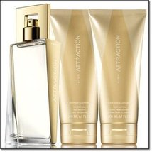 Avon ATTRACTION for Her 3 pieces perfume, body lotion & shower gel gift set - $31.58