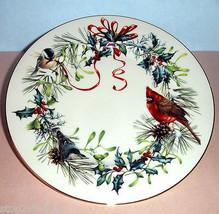 "Lenox Winter Greetings Salad Dessert Plate 8"" Red Cardinal Seasonal Moti... - $18.90"