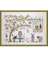 La Nature est mon Atelier cross stitch chart by Jardin Prive  - $9.00