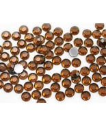 8mm SS40 Brown Smokey Topaz .SZ Acrylic Rhinestones - 100 PCS - $4.69
