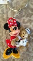Disney Park Fun Minnie Mouse with Duffy Bear PVC Figurine Keychain NEW - $24.74