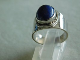 925 STERLING SILVER HAND MADE LAPIS CABOCHON RING OF WT.-7.8 GMS. - $36.47