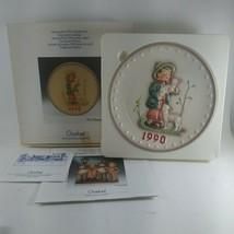 """Hummel Goebel M.J.1990 Annual 7-1/2"""" Plate in Bas Relief. Shepherds Boy... - $22.26"""