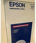 Epson S041456 Premium Photo Paper 13 X 19 Professional Gloss White 20/Pa... - $59.39