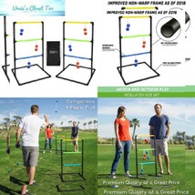 GoSports Indoor / Outdoor Ladder Toss Game Set with 6 Rubber Bolos, Carr... - $35.80