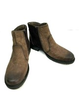 Vintage Earth Leather Ankle Boots Jordan Size 8.5 B Stone Side Double Zi... - $65.41