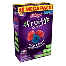Fruity Snacks, Mixed Berry, Gluten Free, Fat Free, 32 oz 40 Pouches