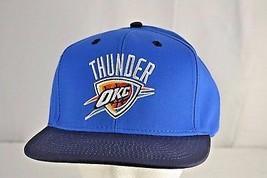 Oklahoma City Thunder Blue/Black Baseball Cap Snapback - $21.11
