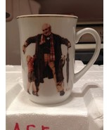 Vintage 1936 Norman Rockwell The Saturday Evening Post Mug w Gold Trim B... - $12.99