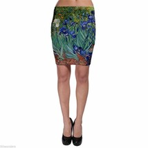 VINCENT VAN GOGH IRISES Bodycon Skirt XS S M L XL XXL XXXL - $11.36+