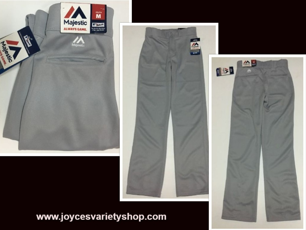 Majestic boys gray baseball pants web collage