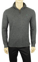 NEW MENS POLO RALPH LAUREN HALF ZIP MOCK NECK GREY PULLOWER SWEATER $145 - $59.99