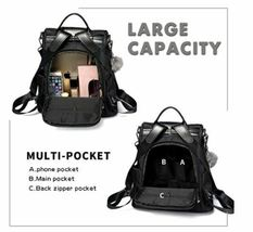 Large Soft, Durable, and Stylish Backpack in Black image 3