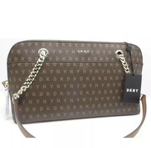 DKNY Signature Logo  Handbag Brown Heritage Holiday Demi Bag NEW - $90.00