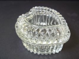 Vintage Homco lead crystal heart shape trinket box - $9.25
