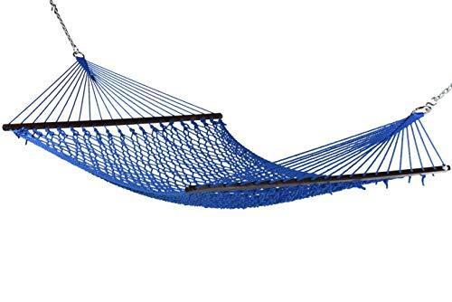 Caribbean Rope Hammock - 55 Inch - Soft-Spun Polyester Dark Blue