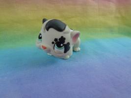 Hasbro Littlest Pet Shop White Black Guinea Pig Flower Tattoos Green Eyes #1394 - $4.46