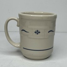 Longaberger Pottery Ceramic Coffee Tea Mug  Dark Blue Pattern USA - $8.86