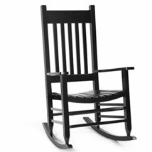 Giantex Solid Wood Rocking Chair Porch Rocker Indoor Outdoor Deck Patio ... - $126.62