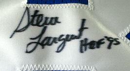 STEVE LARGENT / AUTOGRAPHED SEATTLE SEAHAWKS BLUE CUSTOM FOOTBALL JERSEY / JSA image 4