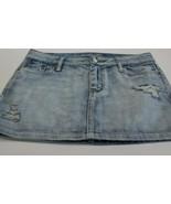American Eagle Denim Skirt Distressed Light Wash Size 4 - $17.09