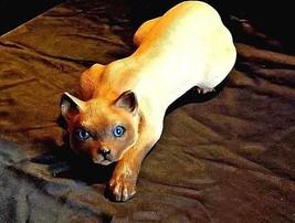 Ceramic Simonize Stalking Cat USA AA18-1300 Vintage Universal Statuary ... - $39.55