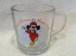 Disney's Mickey Mouse Club 1955 Coffee Tea Cup Mug Clear Glass Vintage Nice RARE - $5.58
