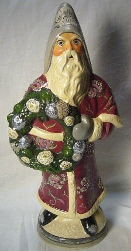 Vaillancourt Folk Art Plum Father Christmas Signed Judi