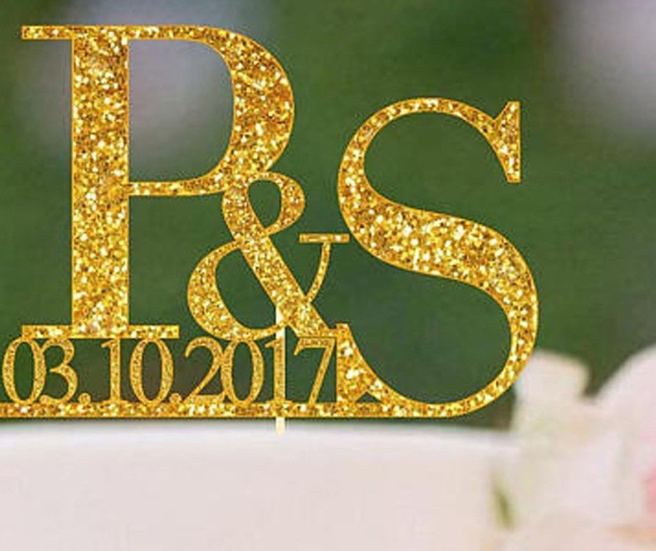 Personalized Wedding Cake Topper Initial and 50 similar items