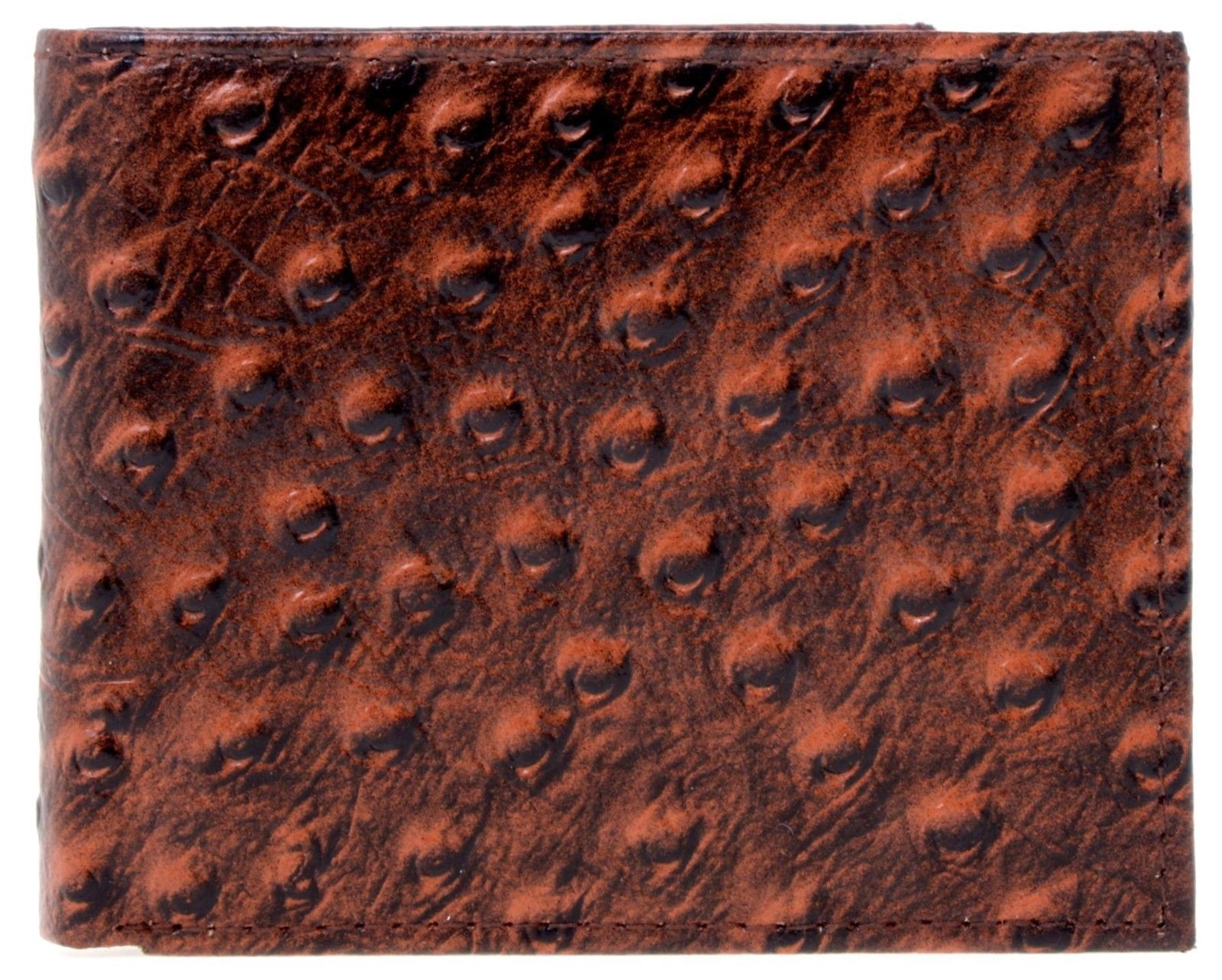 Lord West Men's Exotic Bi-Fold Leather Wallets with Flipout ID and Coin Pockets