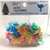 50 Replacement Ceramic Christmas Tree Bulbs Dove Shaped Mr. Christmas - $9.99