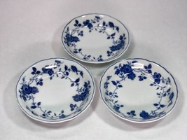 Fine China of Japan Royal Meissen * 3 FRUIT SAUCE DESSERT BOWLS * Blue &... - $27.09