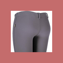 Devon-Aire Ladies All-Pro Dev-Tek Ribbed Hipster Breeches Small Charcoal - NEW! image 2
