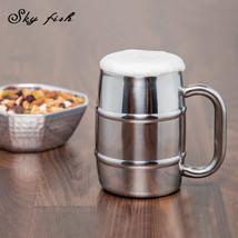 SKY FISH 18/8 Double Walled Stainless Steel Coffee Mug - $30.95