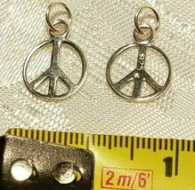 LOVE HEARTS PEACE & SUPPORT STERLING SILVER CHARMS .925 - YOU CHOOSE image 9