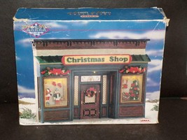 Lemax 1997 MEMORY MAKERS CHRISTMAS SHOP Facade VILLAGE Lighted House 770... - $38.22