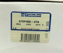 BOX OF 3 NEW FERRAZ SHAWMUT AMP-TRAP A70P400-4TA FUSE A70P4004TA FORM 101 400A image 3