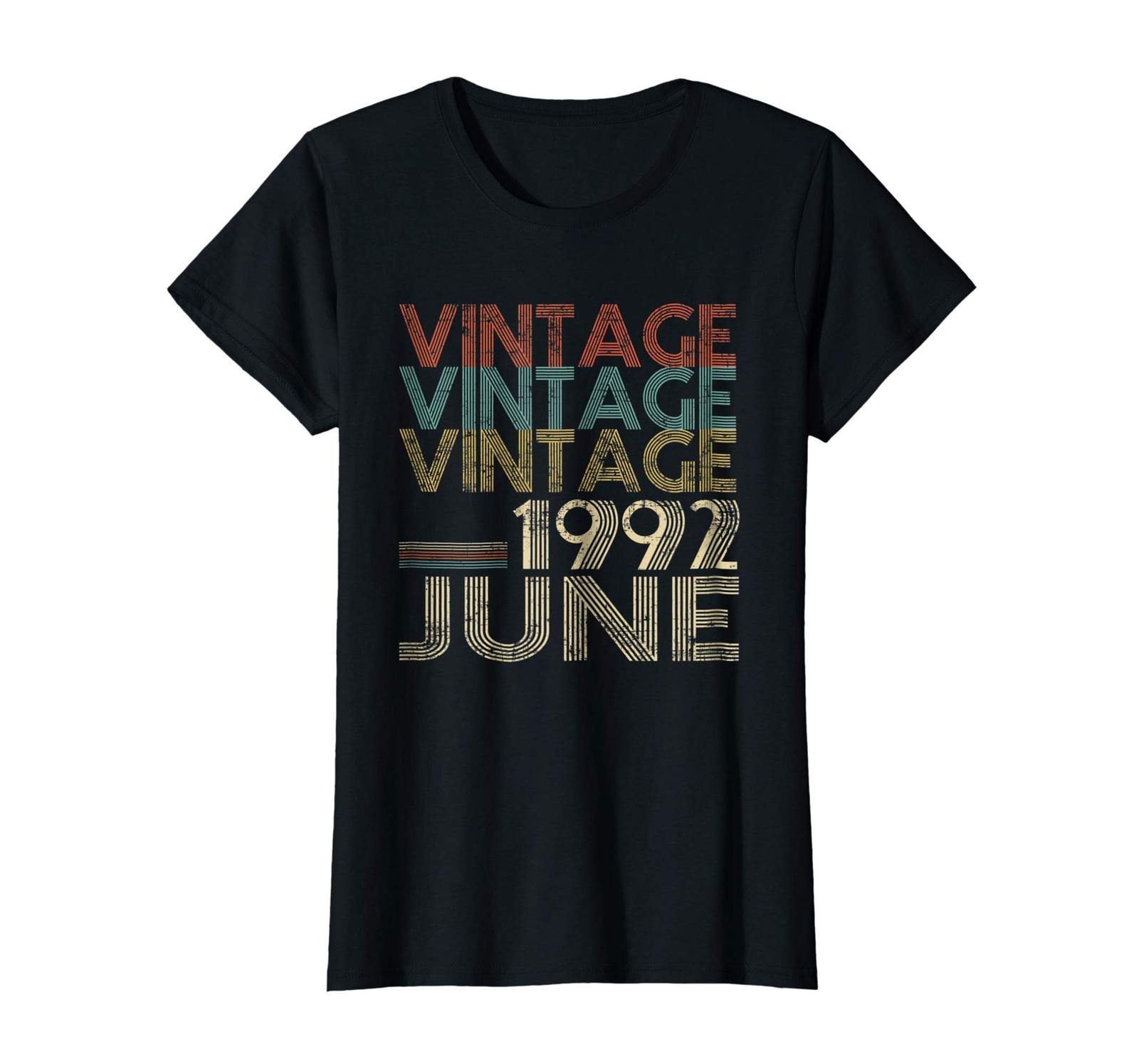 Uncle Shirts -   Retro Classic Vintage Born In JUNE 1992 Gift 26 Years Old Wowen image 2
