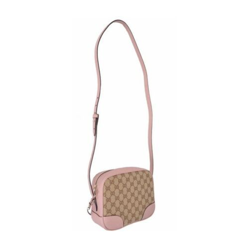 NEW Gucci Beige Pink GG Guccissima Leather Bree Crossbody Camera Shoulder Bag image 5
