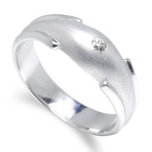 Engagement Diamond Palladium Ring for Men D-5114  - $480.00