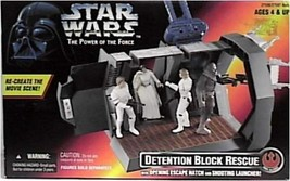 Star Wars Power of the Force Detention Block Rescue Play Set By Kenner b... - $45.20