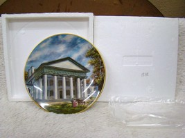 "Gorham Southern Landmark Series Fine China Collector Plate ""Custis Lee Mansion"" - $13.81"