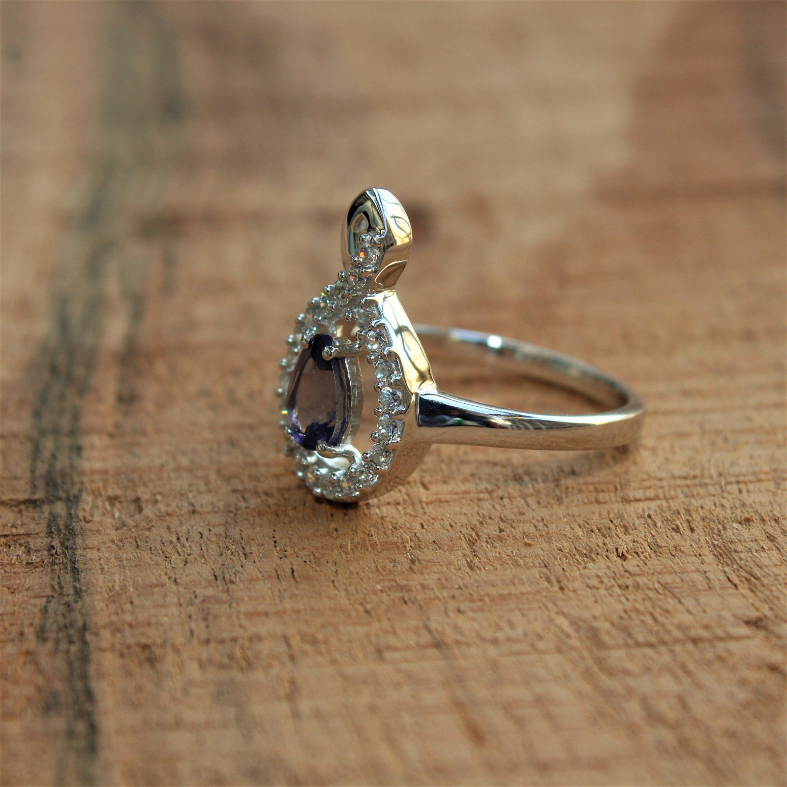 925 Sterling Silver Natural Fine Quality Blue Sapphire And Cz Gemstone Handcraft image 6