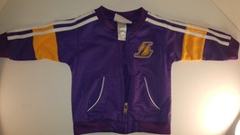 LA Lakers Official NBA Licensed  Zip Up Purple White Jacket Girls 12M RN... - $16.00