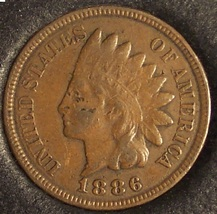 1886 Indian Head Cent Typ 2 VF #0063 - $57.99