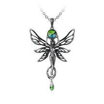 Alchemy Gothic P763  The Green Goddess Necklace Pendant - $58.71