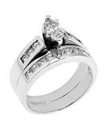 WOMENS PLATINUM MARQUISE CUT DIAMOND ENGAGEMENT RING WEDDING BAND BRIDAL... - £3,638.16 GBP