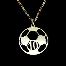 Personalized Number Soccer Ball Necklace - Socc... - $38.00