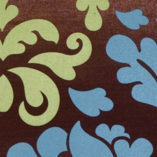 Pillow Decor - Bohemian Damask Brown, Blue and Olive Throw Pillow